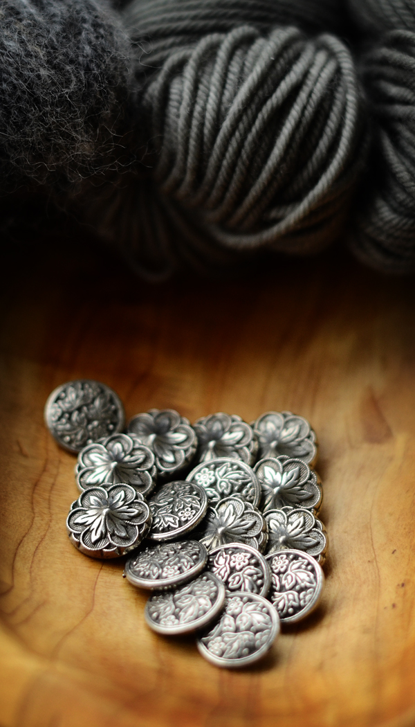 Pewter Shank Buttons from KnitWit