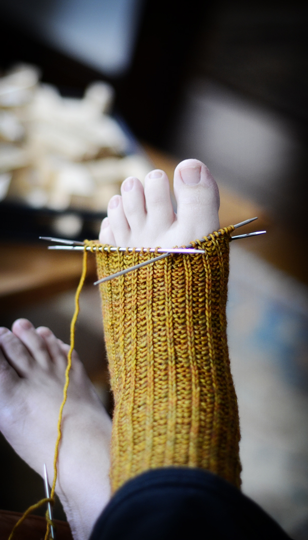 Where do you start your toes?