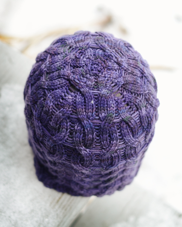 purple hat crown, side a