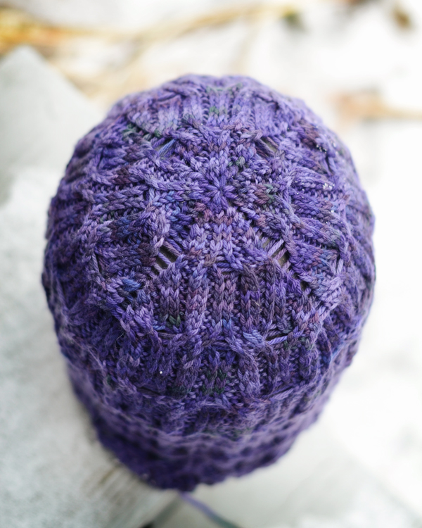 purple hat crown, side b
