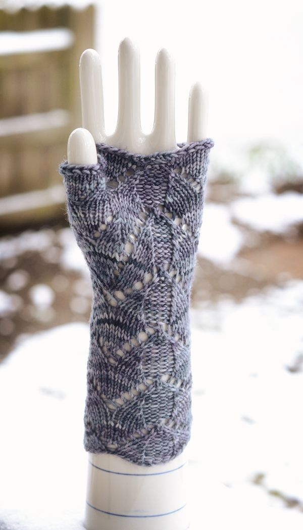 blue fingerless mitt back