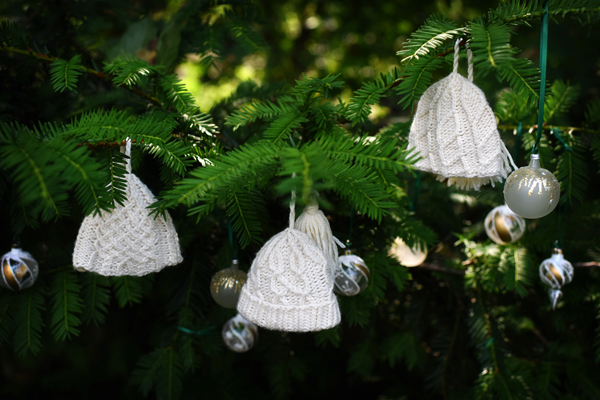 Collection of knitted hat ornaments