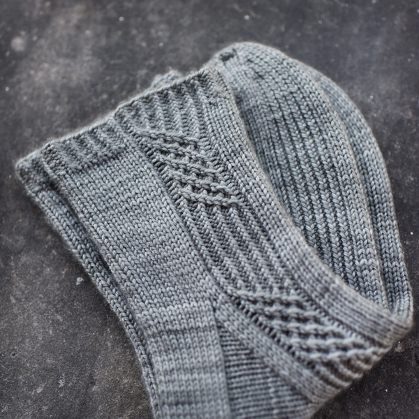 gray cabled socks